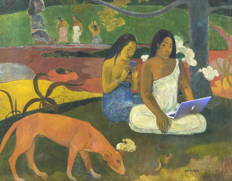 Paul Gauguin - Arearea - outdoor - 63x49