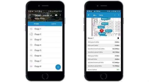 Application d'audit WiFi développée par Wifirst