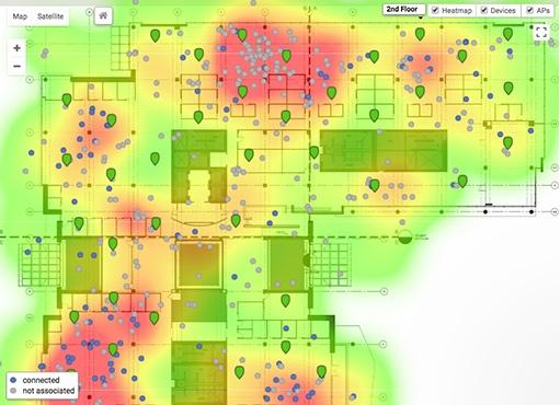 Géolocalisation des clients connectés en WiFi dans un centre commercial