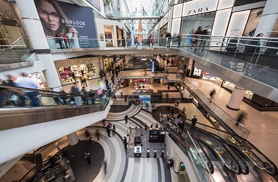 Digitalisation des centres commerciaux