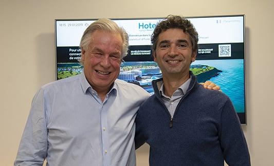 Stein Surlien, CEO d'Otrum & Marc Taieb, président de Wifirst